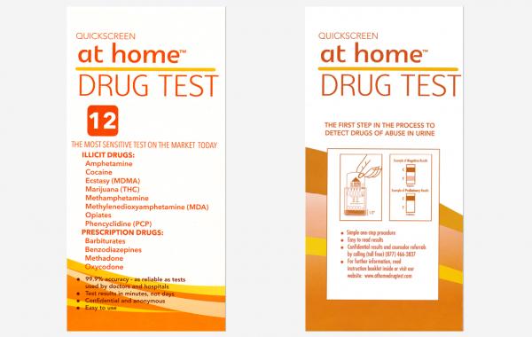 12 Panel (Multiple Drug) – At Home DIP CARD test